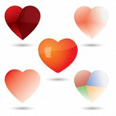Abstract Unique Heart Vector Icons Collection Set