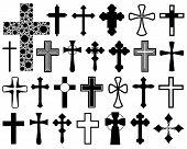 Set of different crosses