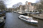Brouwersgracht With Canal boat