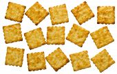 stock photo of biscuits  - Biscuits isolated on white background and clipping path - JPG
