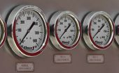 Fire truck pressure gauges
