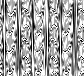 Seamless, Abstract, Pattern Of The Waves And Lines On A White Background