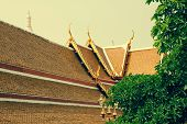 pic of gable-roof  - Typical architecture roofs in Buddhist monasteries - JPG
