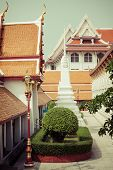 image of gable-roof  - Typical architecture roofs in Buddhist monasteries - JPG