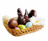 Chocolate Chick With Easter Eggs