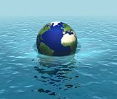 Rising sea levels, global warming, flooding