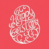 Happy Easter lettering - Vector Illustration