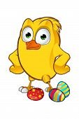 Easter Chick Character