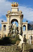 Monumental cascading fountain in the Park Ciutadella, Barcelona, Spain.