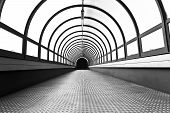 Pedestrian tunnel over a wide highway.