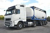 pic of tank truck  - pics of tanker trucks trucking and logistics - JPG