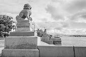 Sculpture Chi-cza in St. Petersburg