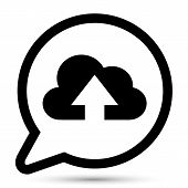 Vector bubble with cloud upload icon