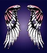 fancy eagle wing design