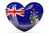 Heart Shaped Icon With Flag Of South Sandwich Islands