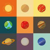 image of earth mars jupiter saturn uranus  - Illustration of a Solar System - JPG