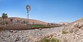 Fuerteventura - Wind turbine at the village Buen Paso