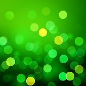 picture of saint patrick  - Abstract green vector background with realistic bokeh lights - JPG