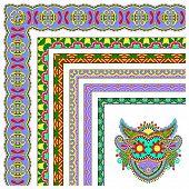 floral vintage frame design. Vector set. All components are easy