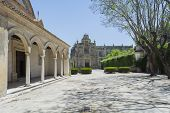 stock photo of carthusian  - Cartuja monastery courtyard Jerez de la Frontera C - JPG