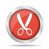 Scissors Icon, Vector Illustration. Flat Design Style