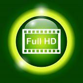 High Definition Design Over Green Background Vector Illustration