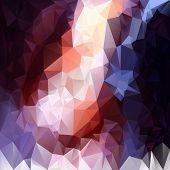 Vector Polygonal Background - Triangular Design In Contrast Col