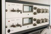 Control Panel Reel Tape Recorder Closeup