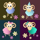 Funny Sheeps Cartoon Collection