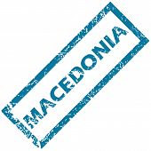 stock photo of macedonia  - Macedonia grunge rubber stamp on a white background - JPG