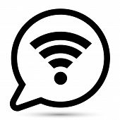 Vector bubble with wi-fi icon