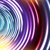 pic of cosmic  - Vector abstract glowing background - JPG