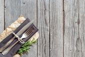 Vintage Table Setting With Rosemary Decor