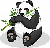 stock photo of panda  - This image is a giant panda in cartoon illustration - JPG