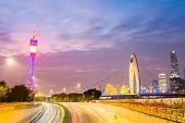 Beautiful Guangzhou Skyline In Nightfall