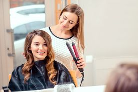 picture of beauty parlour  - Going for big curls - JPG