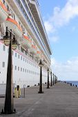 pic of dock  - Cruise Ship docked in St - JPG