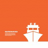 pic of ship  - Background with seamless pattern - JPG