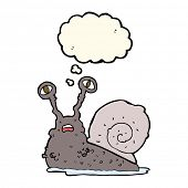 picture of grossed out  - cartoon gross snail with thought bubble - JPG