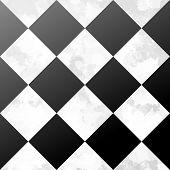 stock photo of ceramic tile  - ceramic tiles black and white floor with grunge texture - JPG