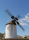 picture of canary-islands  - A historic wind mill in Tiscamanita on the Spanish island Fuerteventura one of the Canary islands in the Atlantic Ocean - JPG