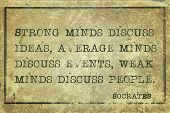 stock photo of socrates  - Strong minds discuss ideas average minds discuss events  - JPG