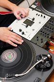 Hip-hop Dj Scratching The Vinyl Record
