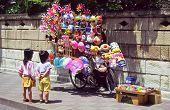 Tokyo Toy Vendor & Children