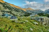 Camping In The Pirin Mountains, Greece, Hdr