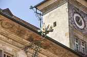 image of city hall  - Lausanne City Hall fragment in summer street view - JPG