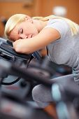 Sleeping Woman On Hometrainer