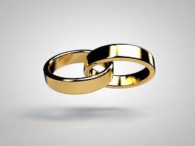 stock photo of wedding  - Marriage marriage marry ring rings wedding ring wedding rings 3D - JPG