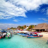 Isla Mujeres Island Dock Port Pier Colorful Mexico