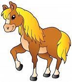 Dibujos animados caminar caballo